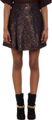 3.1 Phillip Lim Brocade Pleated A-line Mini-Skirt