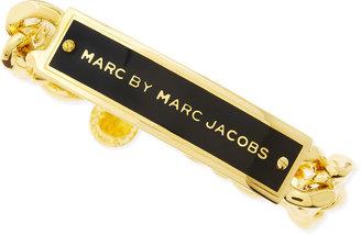 Marc by Marc Jacobs Enamel ID Bracelet, Black/Golden