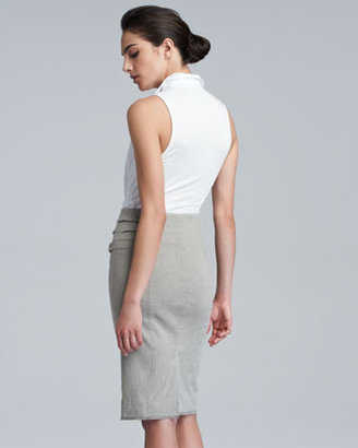 Donna Karan Pull-On Straight Skirt, Hemp