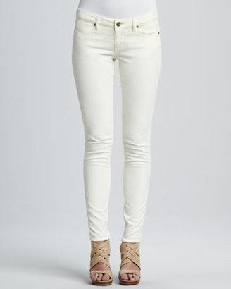 Paige Verdugo Cream Velvet Skinny Jeans