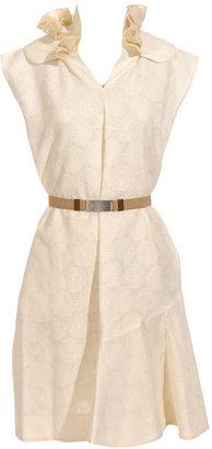 Marni Circle detail dress with frill