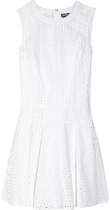 DKNY Broderie anglaise cotton dress