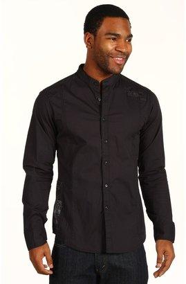 Fox Bullpen L/S Woven Shirt (Black) - Apparel