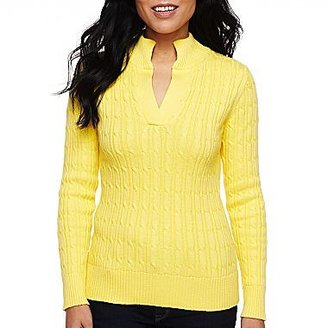 Liz Claiborne Mock-Neck Pullover Sweater