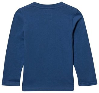Levi's Bright Blue Branded Flock and Print Tee