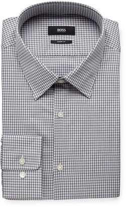 HUGO BOSS Marlow Check Dress Shirt, Silver