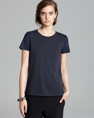 Theory T Shirt - Rodiona G Stay Faux Leather