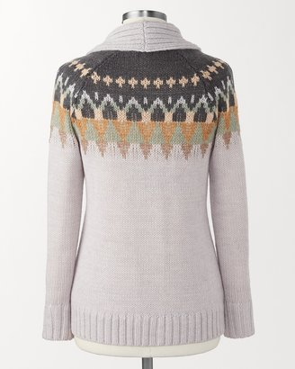 Coldwater Creek Beaded Fair Isle cardigan