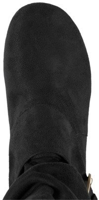 ADI Womens Glaze by Buckle Accent Faux Suede Slouchy Boot - Assorted Colors