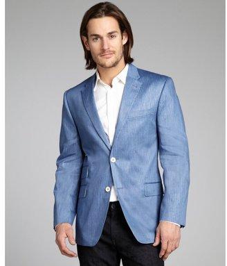 Tommy Hilfiger blue linen-cotton 'Wilson' two-button blazer