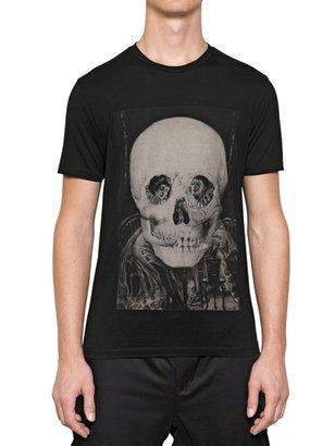 Miharayasuhiro Skull Printed Cotton Jersey T-Shirt
