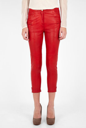 Malene Birger Topa Cropped Leather Trousers