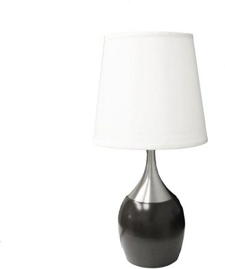 ORE International 24 in. Touch-on Espresso/Silver Table Lamp