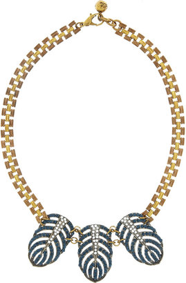 Lulu Frost Gold-tone crystal necklace