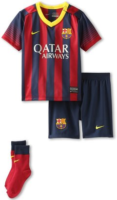 Nike FCB Home Kit (Infant) (Midnight Navy/Storm Red/Vibrant Yellow) - Apparel