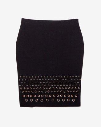 Robert Rodriguez Grommet Detail Pencil Skirt