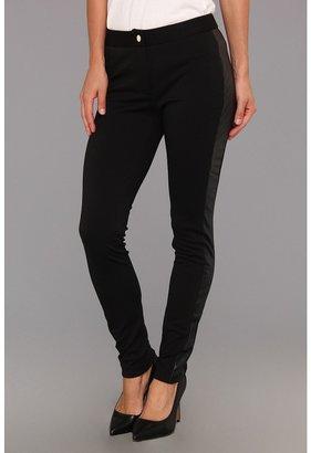 Calvin Klein Skinny Pant w/ Tuxedo Stripe (Black) - Apparel