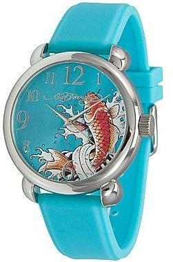 Ed Hardy Womens Fountain Blue Watch
