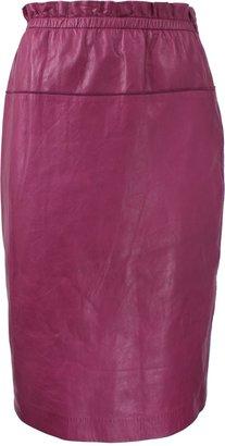 3.1 Phillip Lim Knee-Length Leather Skirt
