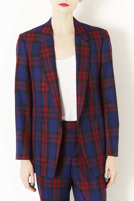 Topshop Modern Tailoring Red/Blue Check Suit Jacket