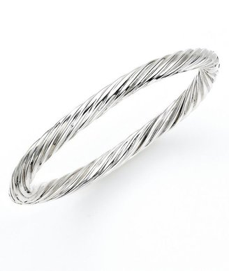 Sterling Silver Oval Twist Bangle