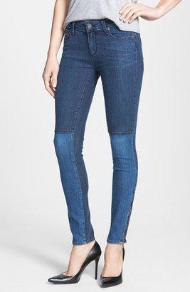 Paige 'Cara' Patchwork Ultra Skinny Jeans (Coastal)
