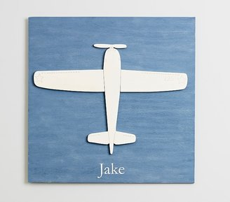 Pottery Barn Kids Airplane Plaque