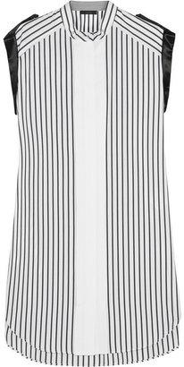 Belstaff Chatsworth satin-trimmed cotton dress