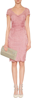 Emilio Pucci Draped Lace Overlay Dress in New Pink