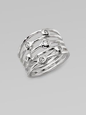 Ippolita Diamond & Sterling Silver Ring