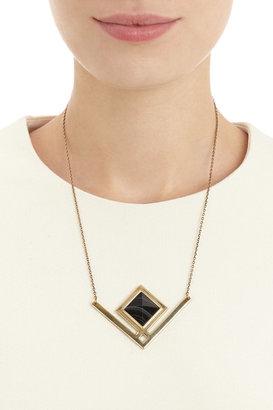 Pamela Love Black Agate Rise Pendant Necklace