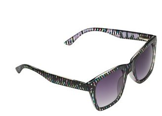 LOFT Striped Classic Sunglasses