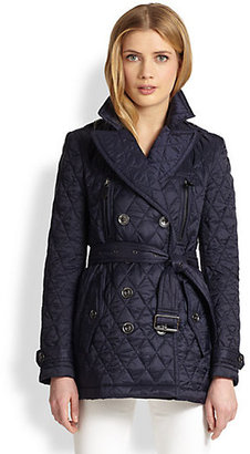 Burberry Caperton Double-Breasted Quilted Coat
