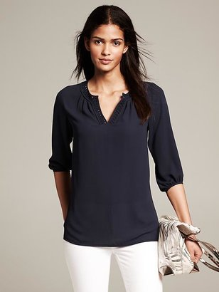 Banana Republic Embroidered Blouse
