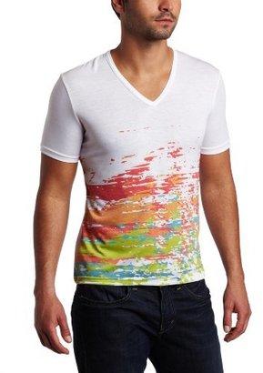 Vuthy Men's Short Sleeve V-Neck Graphic T-Shirt