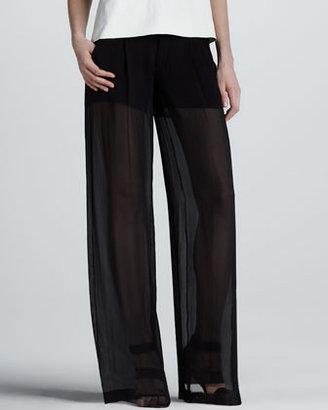 Vince Sheer Silk Trousers
