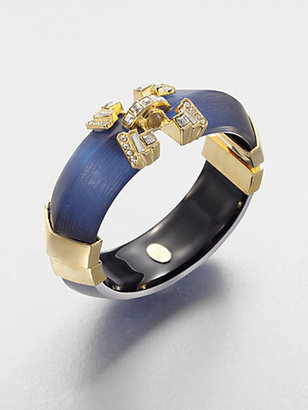 Alexis Bittar Embellished Lucite Bangle Bracelet