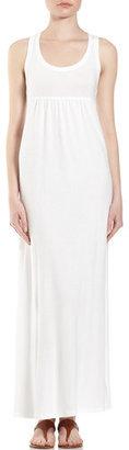 James Perse Racerback Terry Maxi Dress, White
