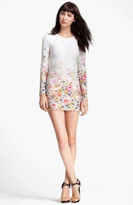MSGM Floral Print Sheath Minidress