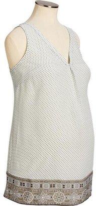 Old Navy Maternity Printed Sleeveless Tops
