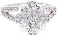 Jude Frances Maltese Cross Ring with Diamonds - White Topaz