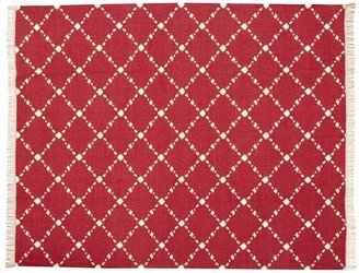 Pottery Barn Dot 'N Dash Recycled Yarn Indoor/Outdoor Rug - Red