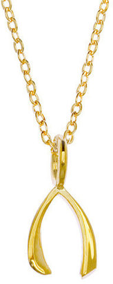 "Samantha Faye ""Wishbone"" Yellow Gold Plate Necklace (Small)"