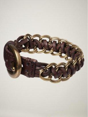 Gap Leather twist bracelet