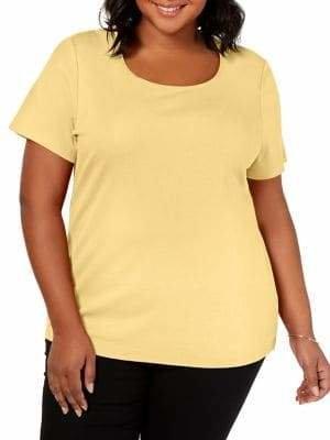 31a9b77c Karen Scott Plus Short-Sleeve Scoop Neck Top