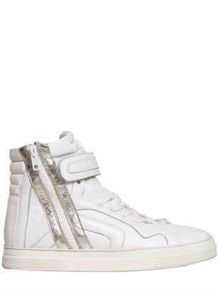 Pierre Hardy 20mm Calfskin High Top Sneakers