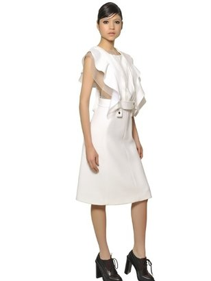 Chloé Organza Ruffle And Crepe Sable Dress