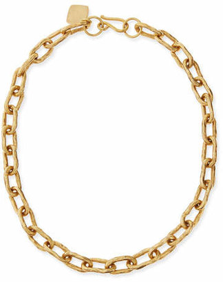 "Ashley Pittman 18"" Hammered Bronze Chain Necklace"