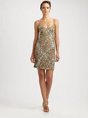Theia Sequin Slip Dress