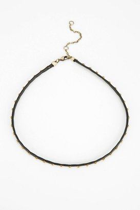 Urban Outfitters Beaded Vegan Leather Choker Necklace